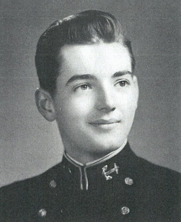 Photo of VADM Robert B. Baldwin copied from page 173 of the 1945 edition of the U.S. Naval Academy yearbook 'Lucky Bag'.