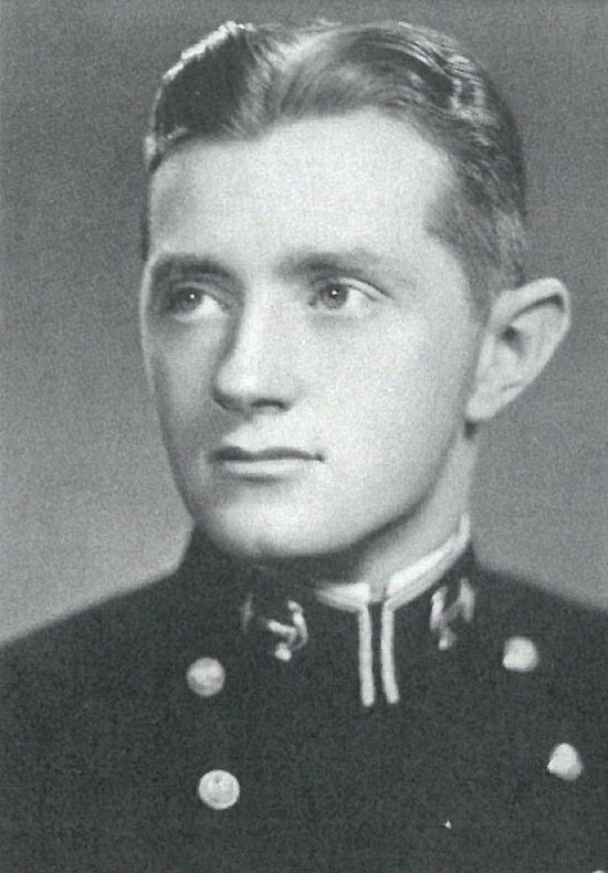 Photo of Captain George C. Ball, Jr. copied from page 285 of the 1941 edition of the U.S. Naval Academy yearbook 'Lucky Bag'.