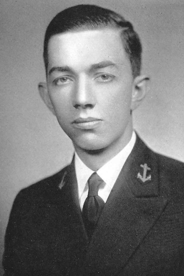 Photo of Captain Eugene A. Barham copied from the 1935 edition of the U.S. Naval Academy yearbook 'Lucky Bag'
