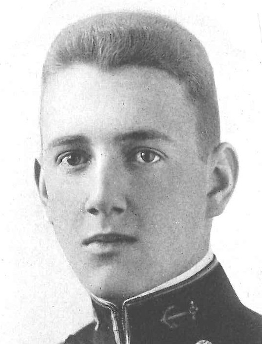 Photo of Rear Admiral Victor C. Barringer, Jr. copied from page 189 of the 1918 edition of the U.S. Naval Academy yearbook 'Lucky Bag'
