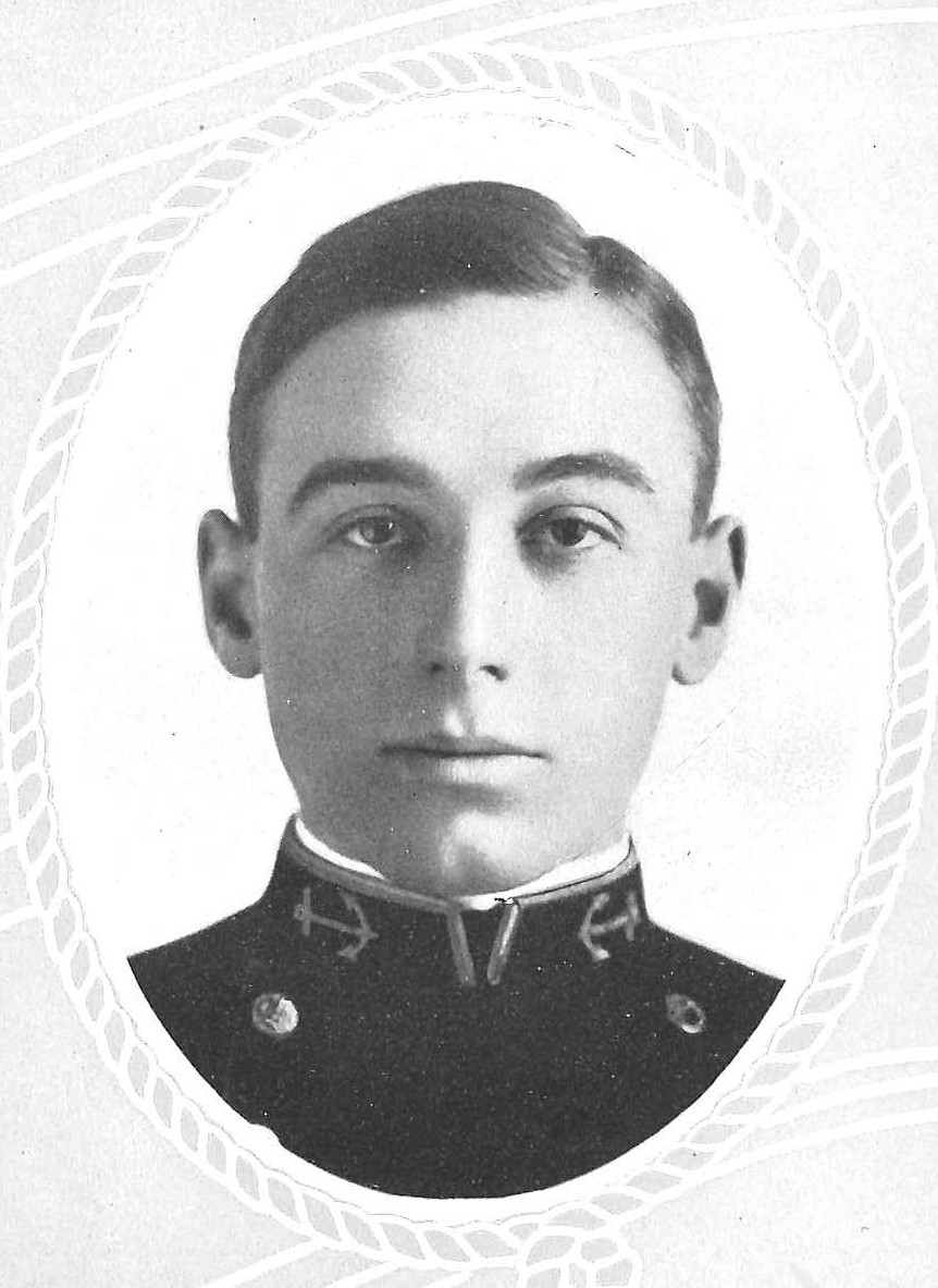 Photo of Commander Harold T. Bartlett copied from page 51 of the 1911 edition of the U.S. Naval Academy yearbook 'Lucky Bag'