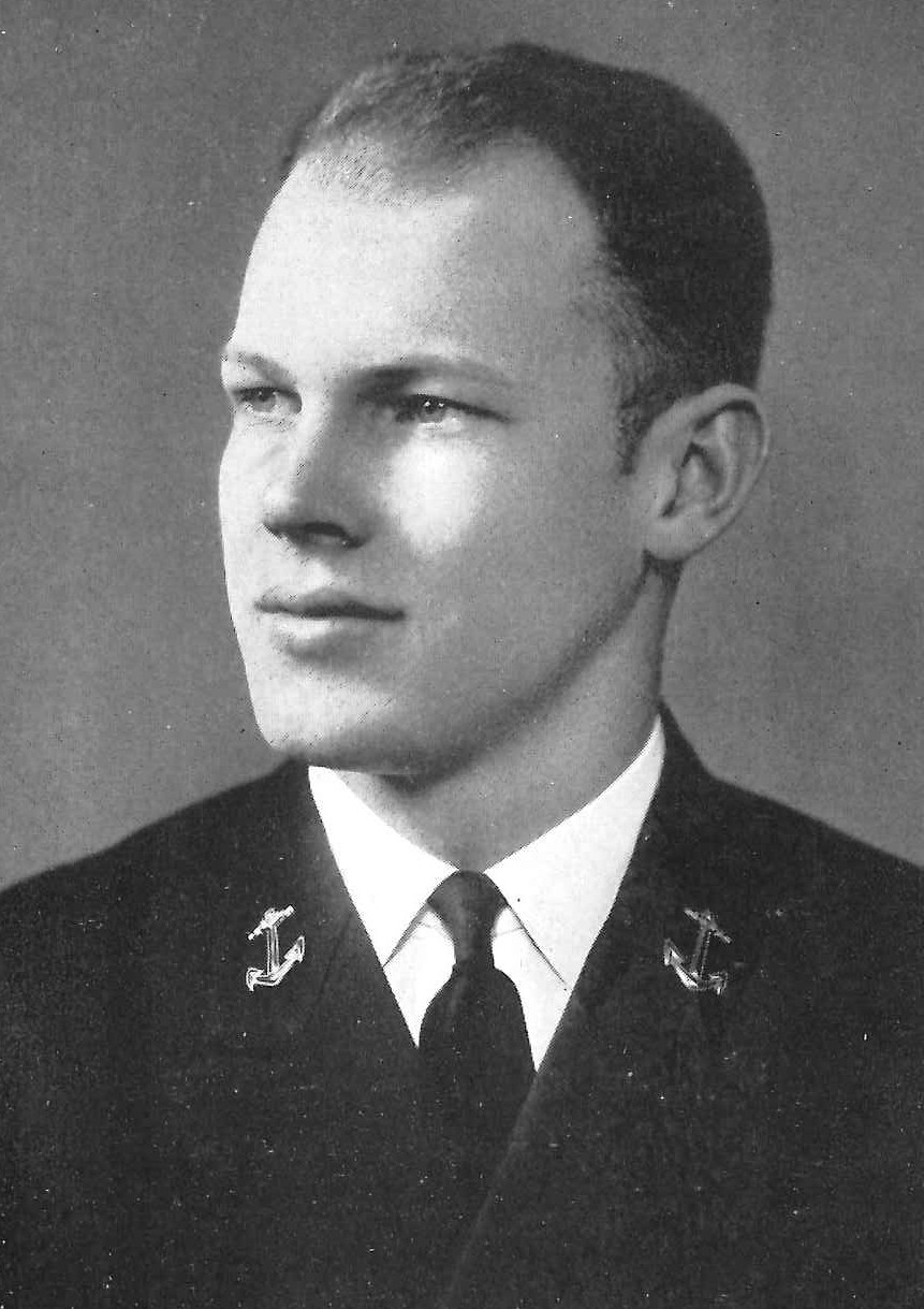 Photo of Captain Wilbur G. Barton copied from page 130 of the 1940 edition of the U.S. Naval Academy yearbook 'Lucky Bag'