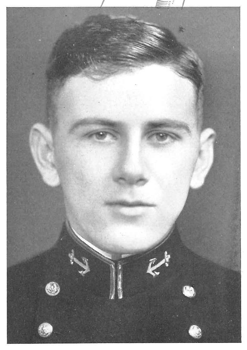 Photo of Harry B. Bass copied from page 52 of the 1938 edition of the U.S. Naval Academy yearbook 'Lucky Bag'