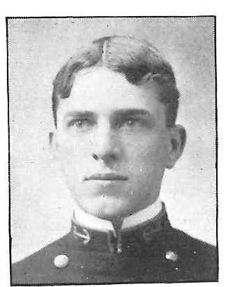 Photo of Rear Admiral Ivan E. Bass copied from the 1901 edition of the U.S. Naval Academy yearbook 'Lucky Bag'