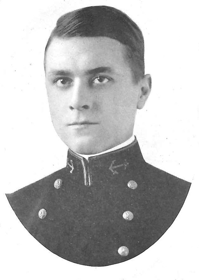 Photo of Melvin Hughes Bassett copied from page 48 of the 1920 edition of the U.S. Naval Academy yearbook 'Lucky Bag'
