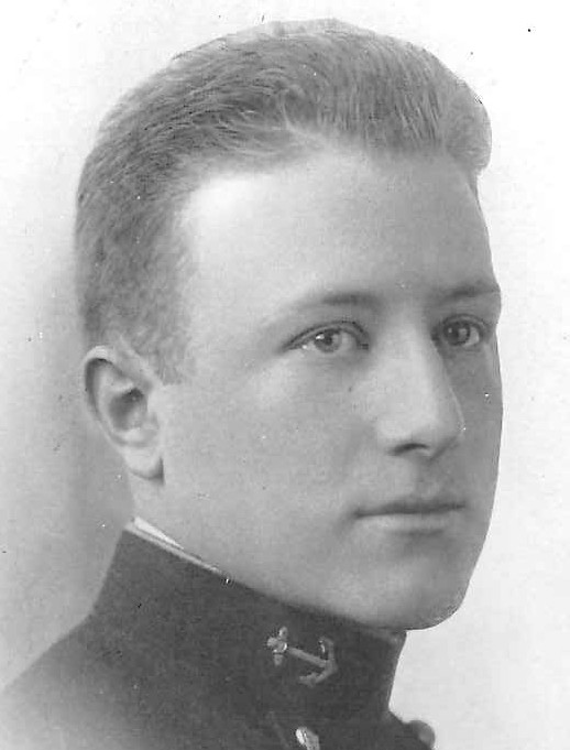 Photo of Richard Waller Bates copied from page 31 of the 1915 edition of the U.S. Naval Academy yearbook 'Lucky Bag'