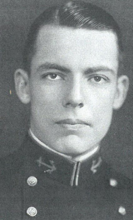 Photo of Rear Admiral Henry L. Beardsley copied from page 199 of the 1938 edition of the U.S. Naval Academy yearbook 'Lucky Bag'.
