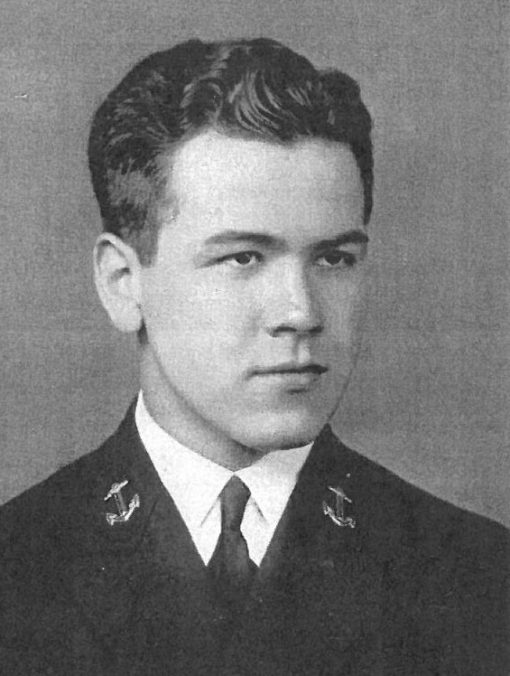 Photo of Captain Bud K. Beaver copied from page 130 of the 1940 edition of the U.S. Naval Academy yearbook 'Lucky Bag'.