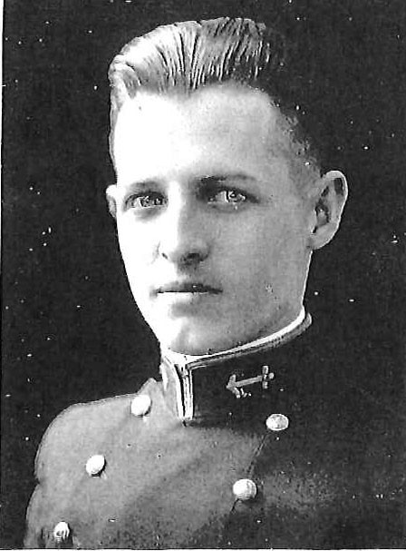 Photo of Captain Alvin L. Becker copied from page 289 of the 1922 edition of the U.S. Naval Academy yearbook 'Lucky Bag'.