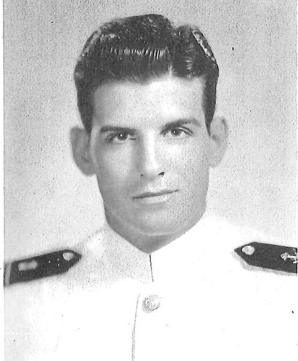 Photo of Rear Admiral Charles Becker copied from page 281 of the 1944 edition of the U.S. Naval Academy yearbook 'Lucky Bag'.