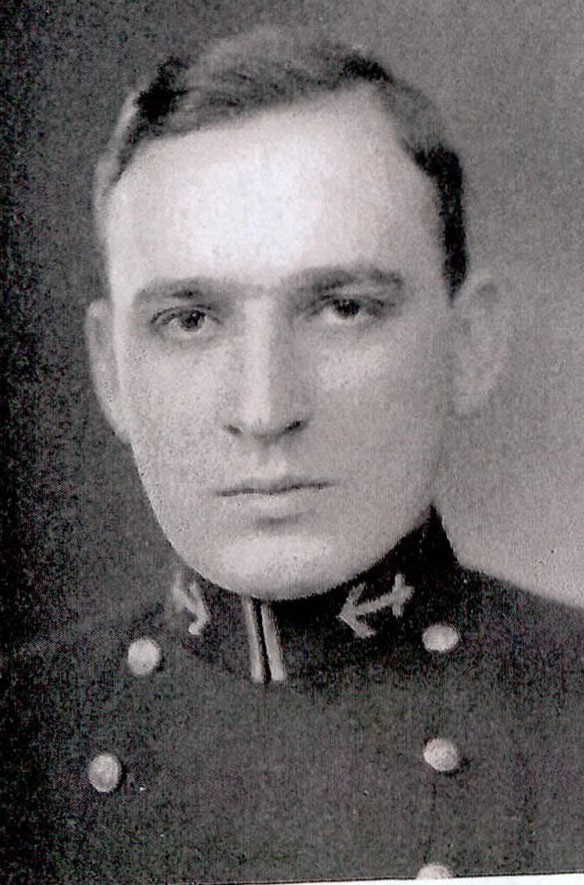 Photo of Commander William Cotesworthy Pinckney Bellinger Jr. copied from page 187 of the 1933 edition of the U.S. Naval Academy yearbook 'Lucky Bag'.