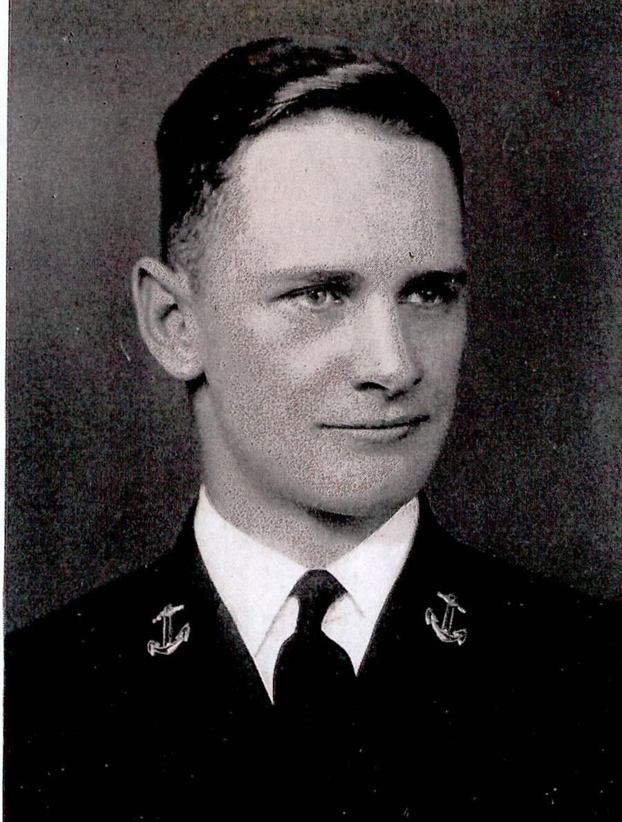 Photo of Captain C. Benjes, Jr. photocopied from page 131 of the 1940 edition of the U.S. Naval Academy yearbook 'Lucky Bag'.