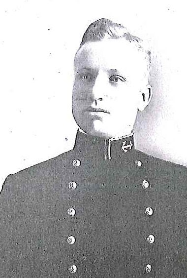 Photo of Rear Admiral Andrew C. Bennett copied from page 52 of the 1912 edition of the U.S. Naval Academy yearbook 'Lucky Bag'.