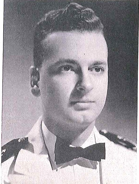 Photo of Captain John E. Bennett copied from page 315 of the 1941 edition of the U.S. Naval Academy yearbook 'Lucky Bag'.