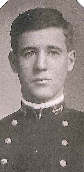Photo of Commodore Howard H.J. Benson copied from page 58 of the 1909 edition of the U.S. Naval Academy yearbook 'Lucky Bag'.