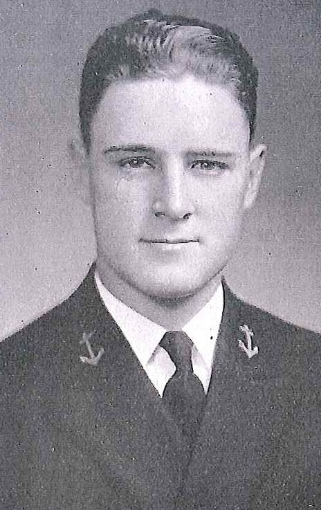 Photo of Captain James A. Bentley copied from page 197 of the 1935 edition of the U.S. Naval Academy yearbook 'Lucky Bag'.
