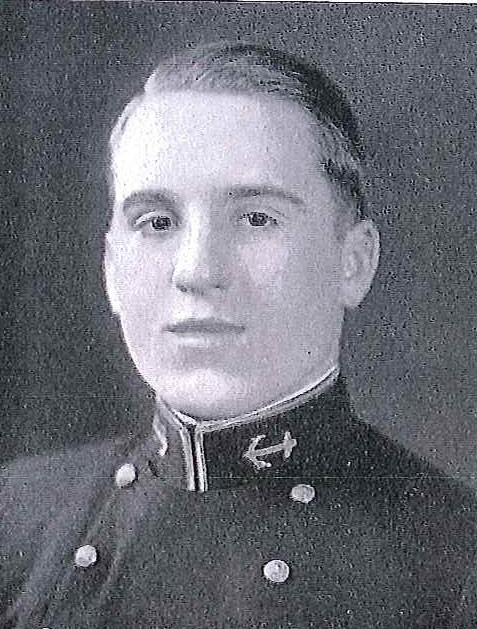 Photo of Captin James C. Bentley copied from page 201 of the 1934 edition of the U.S. Naval Academy yearbook 'Lucky Bag'.