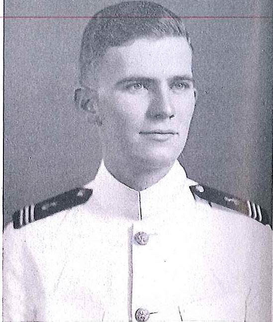 Photo of Rear Admiral Daniel E. Bergin copied from page 92 of the 1941 edition of the U.S. Naval Academy yearbook 'Lucky Bag'.