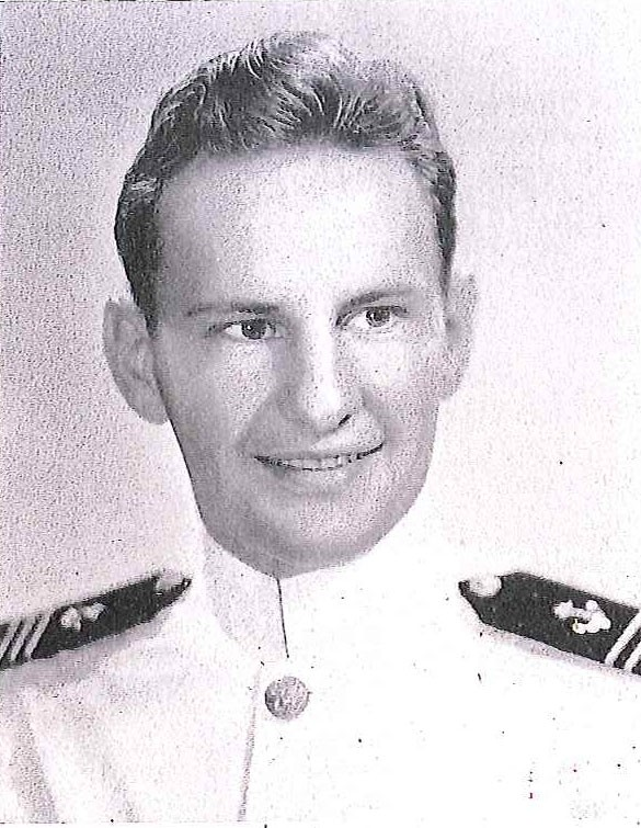 Photo of Captain William C. Bergstedt copied from page 233 of the 1943 edition of the U.S. Naval Academy yearbook 'Lucky Bag'.