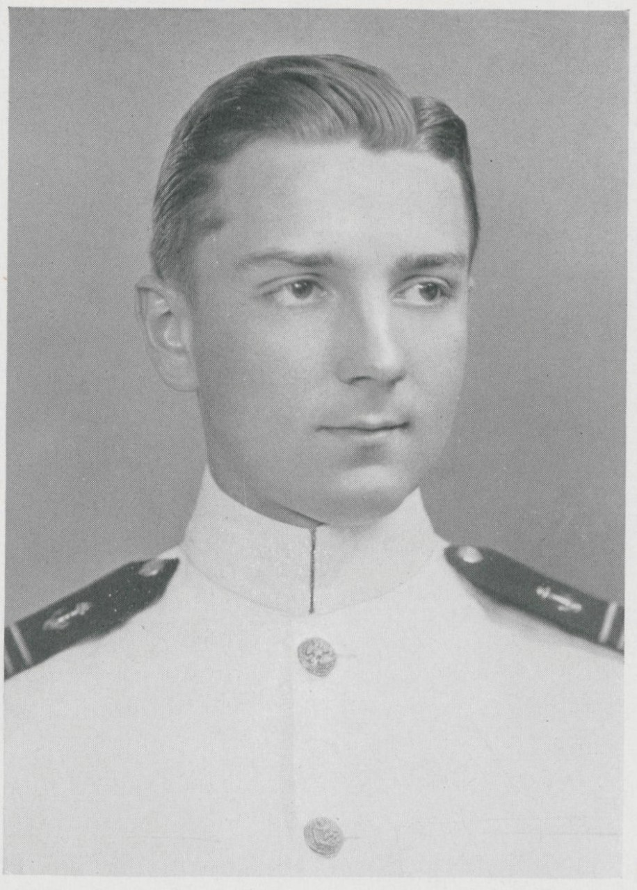 Jpeg photo of Max A. Berns, Jr. copied from page 180 of the 1939 edition of the U.S. Naval Academy yearbook 'Lucky Bag'