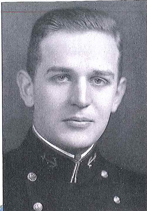 Photo of Lieutenant Howard Burton Berry, Jr. copied from page 230 of the 1938 edition of the U.S. Naval Academy yearbook 'Lucky Bag'.