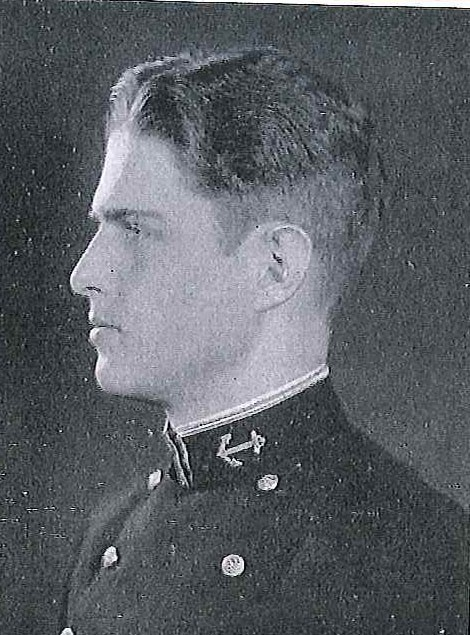 Photo of Captain Charles Marriner Bertholf copied from page 142 of the 1934 edition of the U.S. Naval Academy yearbook 'Lucky Bag'.