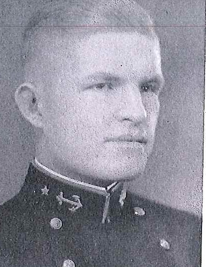 Photo of Captain James Stephen Bethea copied from page 231 of the 1933 edition of the U.S. Naval Academy yearbook 'Lucky Bag'.