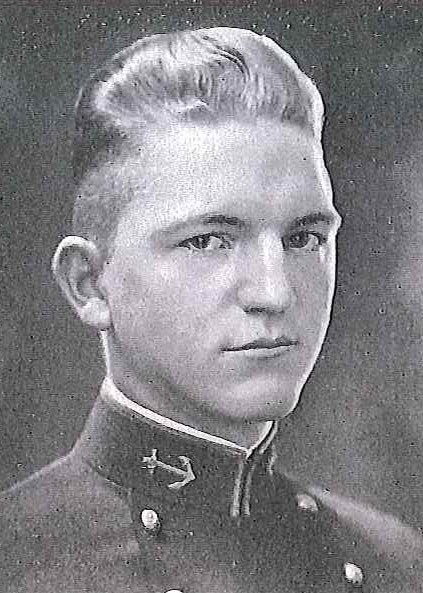 Photo of Captain Lowe H. Bibby copied from page 83 of the 1922 edition of the U.S. Naval Academy yearbook 'Lucky Bag'.