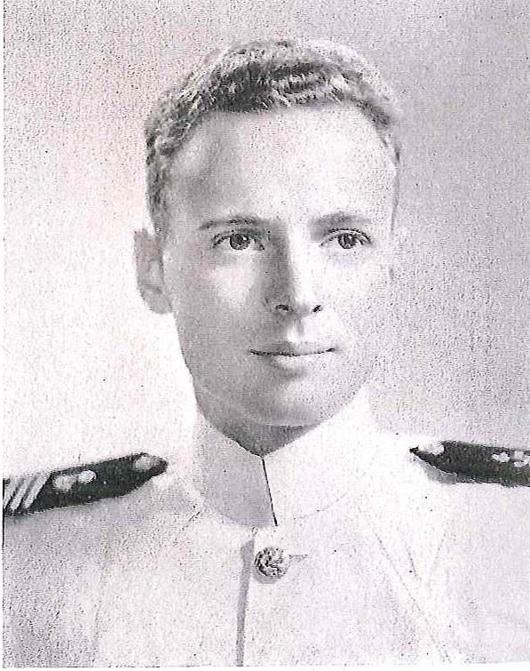 Photo of Captain Edward Biddle copied from page 180 of the 1943 edition of the U.S. Naval Academy yearbook 'Lucky Bag'.
