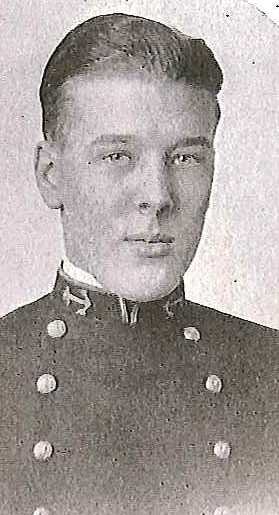 Photo of Lieutenant Commander Valentine N. Bieg copied from page 68 of the 1910 edition of the U.S. Naval Academy yearbook 'Lucky Bag'.