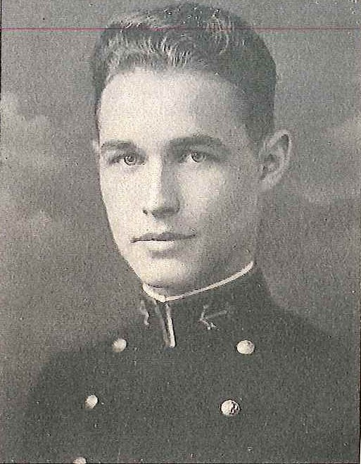 Photo of Captain Bion B. Bierer, Jr. copied from page 488 of the 1926 edition of the U.S. Naval Academy yearbook 'Lucky Bag'.