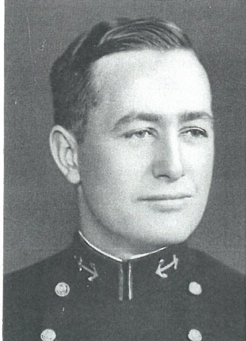 Image of Capt. Cornelius Patrick Callahan, Jr. is from 1938 Lucky Bag.