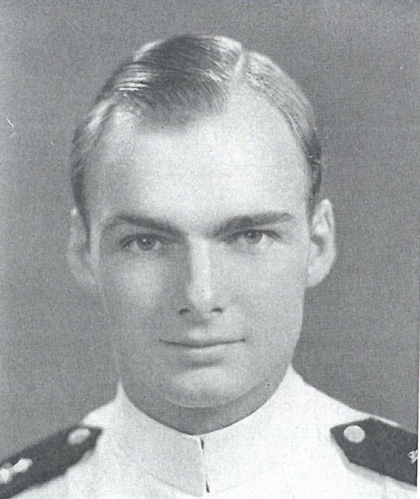 Image of Captain Lawrence D. Caney is on page 173 of the 1943 Lucky Bag.