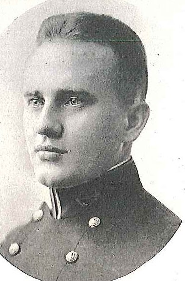 Photo of Captain Harold A. Carlisle copied from page 427 of the 1921 edition of the U.S. Naval Academy yearbook 'Lucky Bag'.