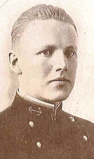 Photo of Rear Admiral Milton O. Carlson copied from page 100 of the 1916 edition of the U.S. Naval Academy yearbook 'Lucky Bag'.
