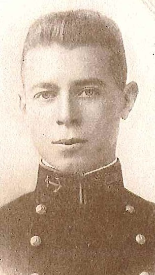 Photo of Lieutenant Commander Donald M. Carpenter copied from page 104 of the 1916 edition of the U.S. Naval Academy yearbook 'Lucky Bag'.