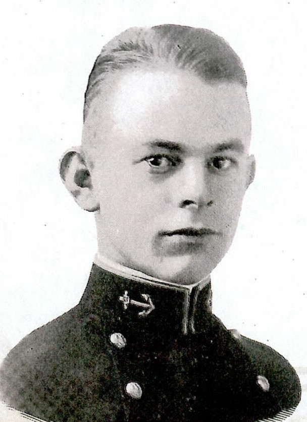 Photo of Rear Admiral Grayson B. Carter copied from page 51 of the 1919 edition of the U.S. Naval Academy yearbook 'Lucky Bag'.