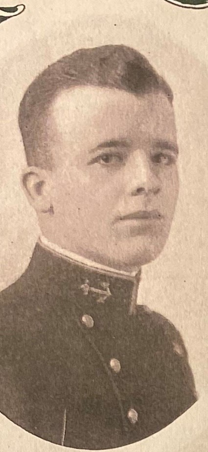Photo of Commodore James B. Carter copied from page 212 of the 1919 edition of the U.S. Naval Academy yearbook 'Lucky Bag'.