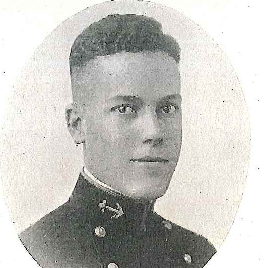 Photo of Rear Admiral Jesse H. Carter copied from page 143 of the 1920 edition of the U.S. Naval Academy yearbook 'Lucky Bag'.
