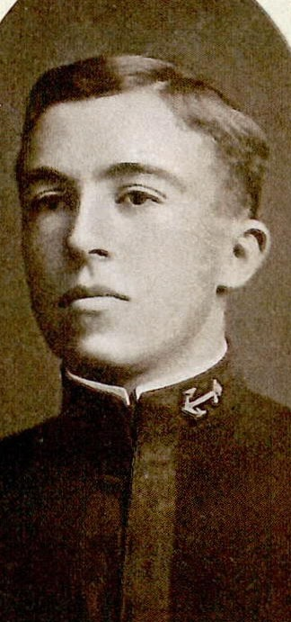 Photo of Rear Admiral Worrall R. Carter copied from page 50 of the 1908 edition of the U.S. Naval Academy yearbook 'Lucky Bag'.