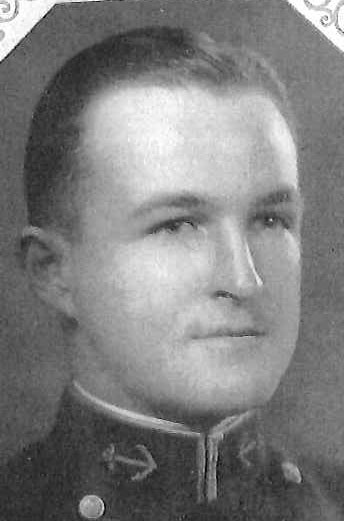 Photo of Rear Admiral Hiram Cassedy copied from page 61 of the 1931 edition of the U.S. Naval Academy yearbook 'Lucky Bag'.