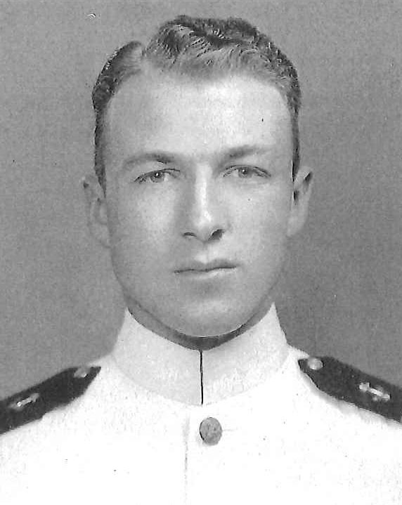 Photo of Captain Charles M. Cassel, Jr. copied from page 162 of the 1939 edition of the U.S. Naval Academy yearbook 'Lucky Bag'.