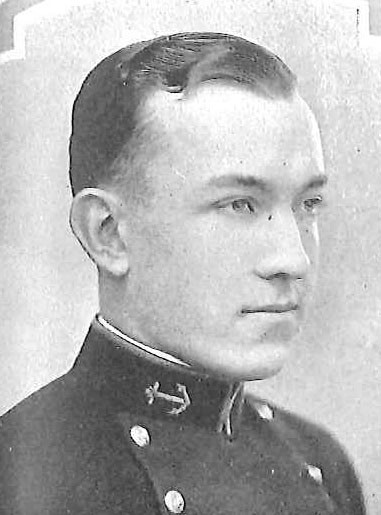 Photo of Captain Cecil Thilman Caufield copied from page 191 of the 1927 edition of the U.S. Naval Academy yearbook 'Lucky Bag'.