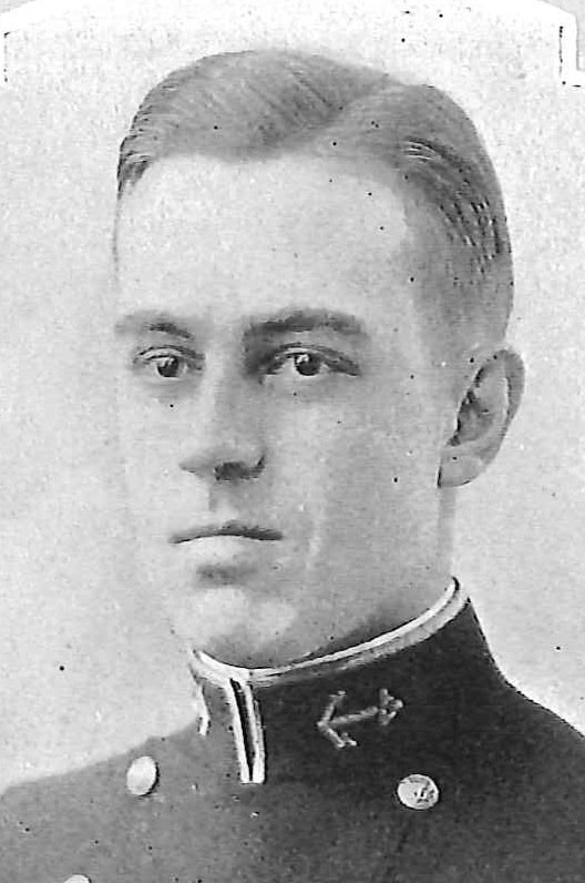 Photo of Captain Leonard C. Chamberlin copied from page 151 of the 1927 edition of the U.S. Naval Academy yearbook 'Lucky Bag'.