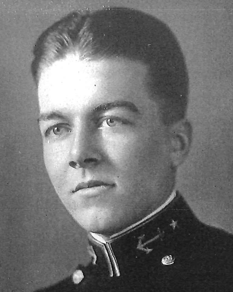 Photo of Captain Frederic A. Chenault copied from page 177 of the 1936 edition of the U.S. Naval Academy yearbook 'Lucky Bag'.