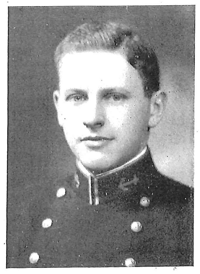 Photo of James Stroud Clarkson copied from the 1930 edition of the U.S. Naval Academy yearbook 'Lucky Bag'