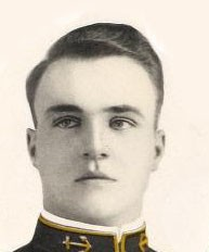 Photo of Calvin Hayes Cobb copied from the 1911 edition of the U.S. Naval Academy yearbook 'Lucky Bag'