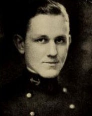 Photo of Charles Frederick Coe copied from the 1923 edition of the U.S. Naval Academy yearbook 'Lucky Bag'