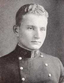 Photo of Albert Peyton Coffin copied from the 1934 edition of the U.S. Naval Academy yearbook 'Lucky Bag'