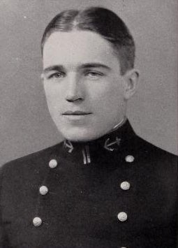 Photo of Harry Nelson Coffin copied from the 1929 edition of the U.S. Naval Academy yearbook 'Lucky Bag'